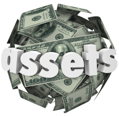 Assets Word Money Sphere Ball Value Net Worth Wealth by Ian Lifshutz